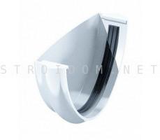 Заглушка желоба универсальная ПВХ 125 x 82 RAL 9003 белый Фаракс Faracs