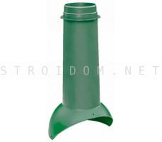 Выход вентиляции Pipe VT 110/500 Зеленый RAL 6005 Кровент Krovent