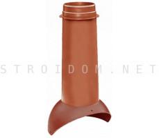 Выход вентиляции Pipe VT 110/500 Красно-коричневый RR29 Кровент Krovent