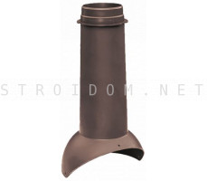 Выход вентиляции Pipe VT 110/500 Коричневый RAL 8017 Кровент Krovent