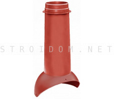 Выход вентиляции Pipe VT 110/500 Красный RAL 3009 Кровент Krovent
