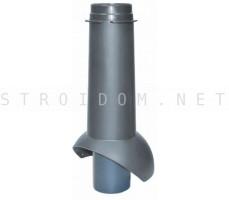 Выход канализации Pipe-VT IS 110/изол./500 Серый RAL 7024 Кровент Krovent