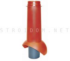 Выход канализации Pipe-VT IS 110/изол./500 Красный RAL 3009 Кровент Krovent