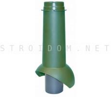 Выход канализации Pipe-VT IS 110/изол./500 Зеленый RAL 6005 Кровент Krovent