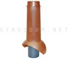 Выход канализации Pipe-VT IS 110/изол./500 Красно-коричневый RR29 Кровент Krovent