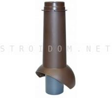 Выход канализации Pipe-VT IS 110/изол./500 Коричневый RAL 8017 Кровент Krovent