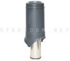 Выход вентиляции Pipe-VT IS 125/изол./500 Серый RAL 7024 Кровент Krovent