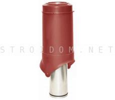 Выход вентиляции Pipe-VT IS 125/изол./500 Красный RAL 3009 Кровент Krovent