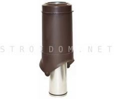 Выход вентиляции Pipe-VT IS 125/изол./500 Коричневый RAL 8017 Кровент Krovent