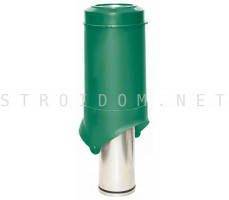 Выход вентиляции Pipe-VT IS 125/изол./500 Зеленый RAL 6005 Кровент Krovent