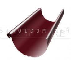 Желоб полукруглый 125мм. 3м. RAL 3005 красное вино Гранд лайн Grand Line