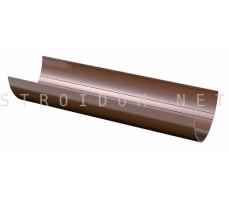 Желоб Водосточный 3м. ПВХ 125 x 82 RAL 8017 коричневый Фаракс Faracs