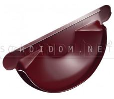 Заглушка торцевая универсальная 125мм. RAL 3005 красное вино Гранд лайн Grand Line