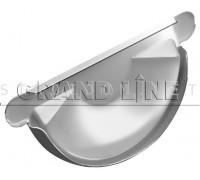 Заглушка торцевая универсальная 125мм. RAL 9003 сигнальный белый Гранд лайн Grand Line