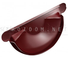 Заглушка торцевая универсальная 125мм. RAL 3011 коричнево-красный Гранд лайн Grand Line