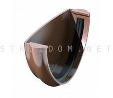 Заглушка желоба универсальная ПВХ 125 x 82 RAL 8017 коричневый Фаракс Faracs