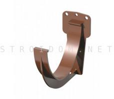 Кронштейн крюк желоба ПВХ RAL 8017 коричневый Фаракс Faracs