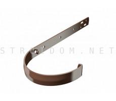 Кронштейн крюк желоба металлический RAL 8017 коричневый Фаракс Faracs