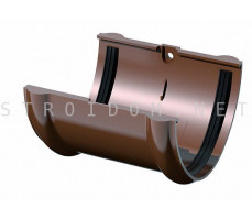 Соединитель желоба ПВХ 125 x 82 RAL 8017 коричневый Фаракс Faracs