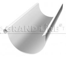 Желоб полукруглый 125мм. 3м. RAL 9003 сигнальный белый Гранд лайн Grand Line