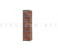 Угол наружный для фасадной панели Старый форт Рыже-терракотовый 0,119 x 0,477 Нордсайд