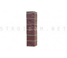 Угол наружный для фасадной панели Старый форт Карминный 0,119 x 0,477 Нордсайд