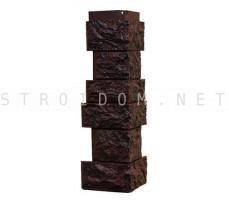 Угол наружный для фасадной панели Северный камень/Сланец Шоколадный 0,139 x 0,463 Нордсайд