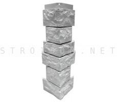 Угол наружный для фасадной панели Северный камень/Сланец Белый 0,139 x 0,463 Нордсайд