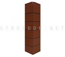 Угол наружный Гладкий кирпич Ореховый флер 0,119 x 0,463 Нордсайд