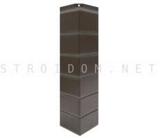 Угол наружный для фасадной панели Гладкий кирпич Темно-коричневый 0,119 x 0,463 Нордсайд