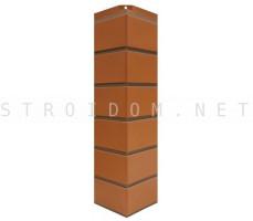 Угол наружный для фасадной панели Гладкий кирпич Красный 0,119 x 0,463 Нордсайд