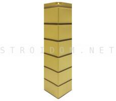 Угол наружный для фасадной панели Гладкий кирпич Желтый 0,119 x 0,463 Нордсайд