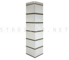 Угол наружный для фасадной панели Гладкий кирпич Белый 0,119 x 0,463 Нордсайд