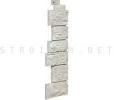 Угол наружный Камень Дикий Мелованный белый Файнбир FineBer