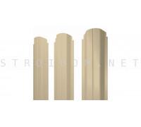 Штакетник круглый фигурный односторонний 1,8м. 0,4мм. RAL 1014 слоновая кость полиэстер Россия