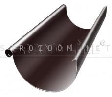 Желоб полукруглый 125мм. 3м. RAL 8017 коричневый ОПТИМА Гранд лайн Grand Line
