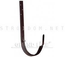 Кронштейн крюк длинный 125мм. RAL 8017 коричневый ОПТИМА Гранд лайн Grand Line