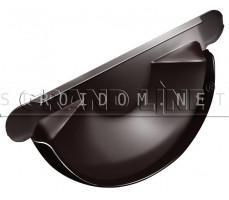 Заглушка торцевая универсальная 125мм. RAL 8017 коричневый ОПТИМА Гранд лайн Grand Line