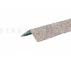 Уголок металлический внешний Hauberk Серо Бежевый 50x50x1250мм Технониколь
