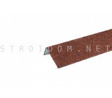 Наличник оконный металлический Hauberk Терракотовый 50x100x1250мм Технониколь