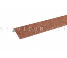 Наличник оконный металлический Hauberk Красный 50x100x1250мм Технониколь