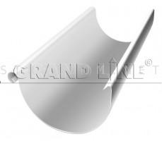 Желоб полукруглый 125мм. 3м. RAL 9003 Белый ОПТИМА Гранд лайн Grand Line