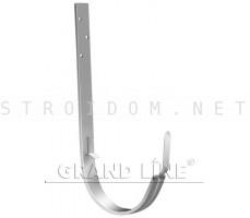 Кронштейн крюк длинный 125мм. RAL 9003 сигнальный белый ОПТИМА Гранд лайн Grand Line