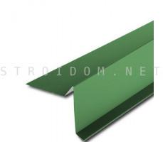 Планка торцевая ветровая для мягкой кровли 2м. зеленая RAL 6005 Полиэстер Россия
