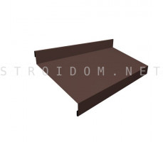 Отлив простой 100мм. 0,45мм. коричневый RAL 8017 Россия