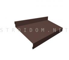 Отлив простой 50мм. 0,45мм. коричневый RAL 8017 Россия