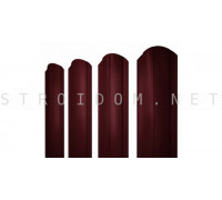 Штакетник круглый фигурный двухсторонний 2м. 0,4мм. RAL 3005 красное вино полиэстер Россия