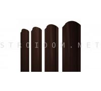 Штакетник круглый фигурный двухсторонний 1,8м. 0,4мм. RAL 8017 коричневый полиэстер Россия