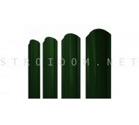 Штакетник круглый фигурный односторонний 1,8м. 0,45мм. RAL 6005 зеленый полиэстер Россия