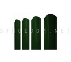 Штакетник круглый фигурный односторонний 1,8м. 0,4мм. RAL 6005 зеленый мох Полиэстер Россия